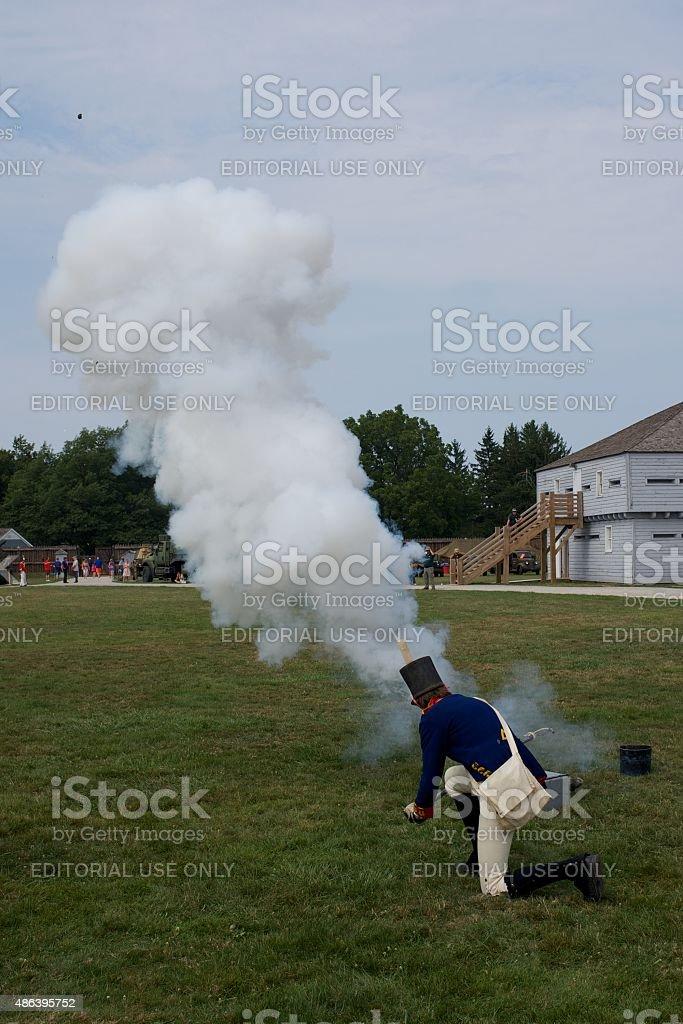 Mortar entlassen werden Demonstration im Fort George Park – Foto