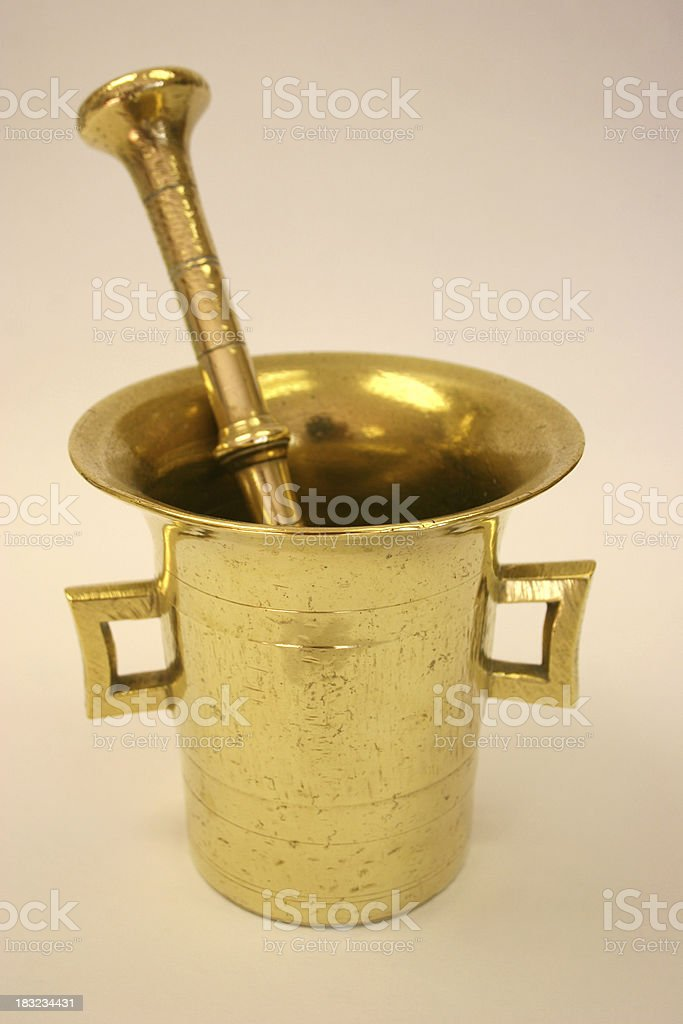 Mortar & Pestle royalty-free stock photo