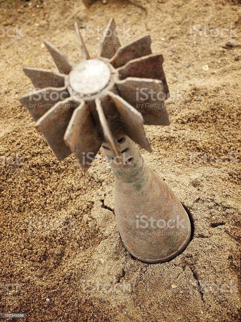Mortar shell stock photo