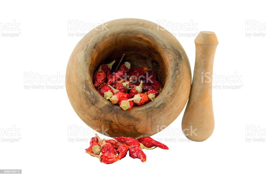 Mortar with pestle stock photo