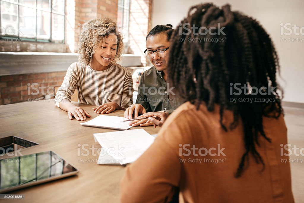 Mortgage advice stock photo