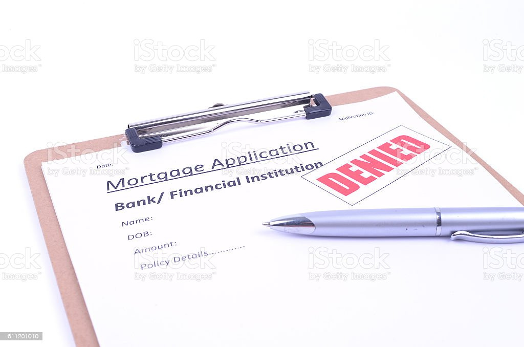 Mortgage Application Denied stock photo
