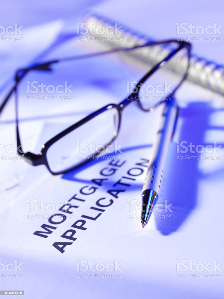 Mortgage Application Document royalty-free stock photo