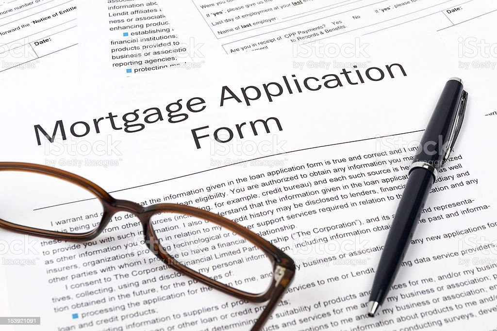 Mortgage Application Form royalty-free stock photo