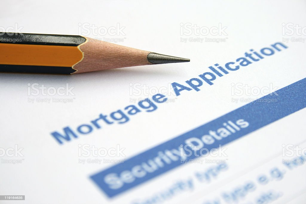 Mortgage application royalty-free stock photo