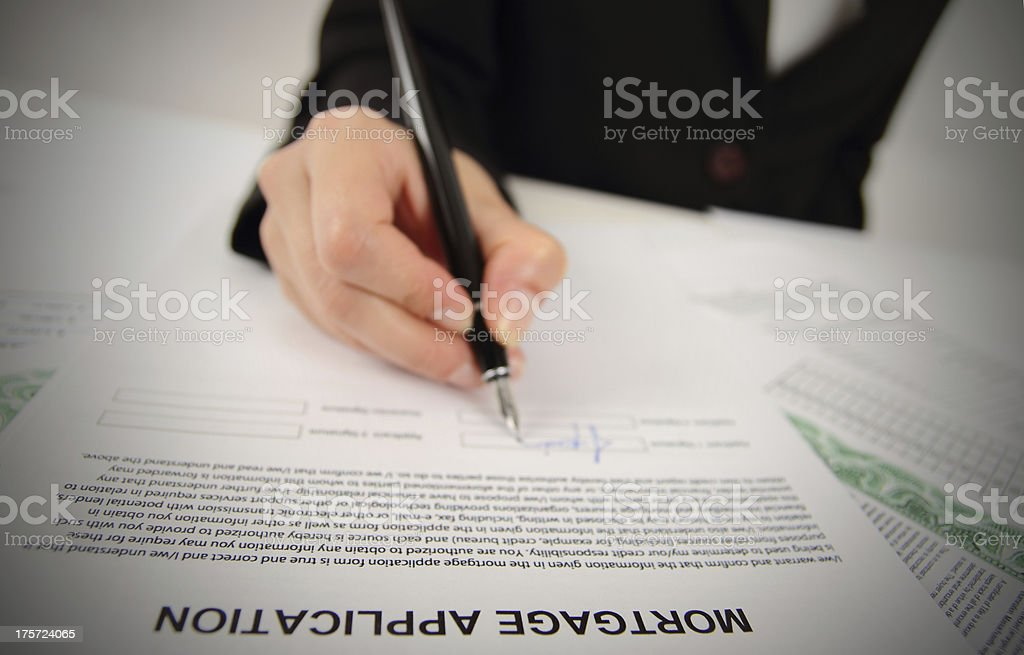 Mortgage Application royalty-free stock photo