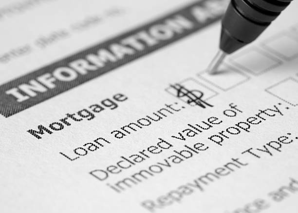 Mortgage application Mortgage application form mortgages and loans stock pictures, royalty-free photos & images