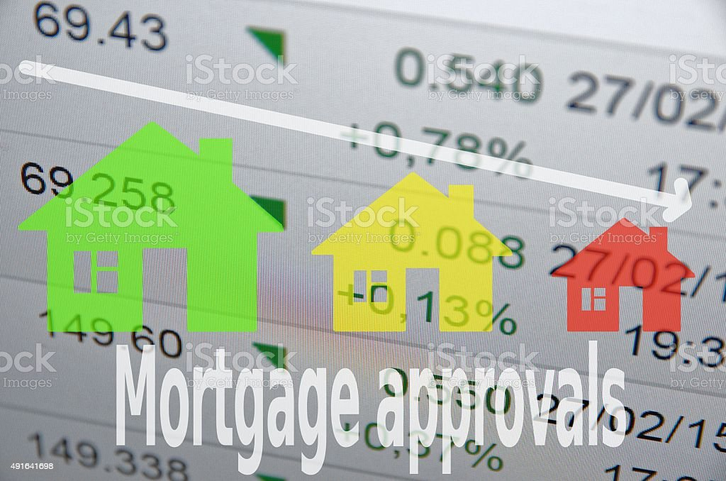 Mortgage approvals stock photo
