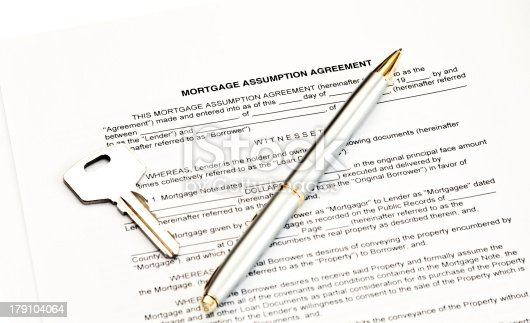 Mortgage Assumption Agreement Stock Photo More Pictures Of