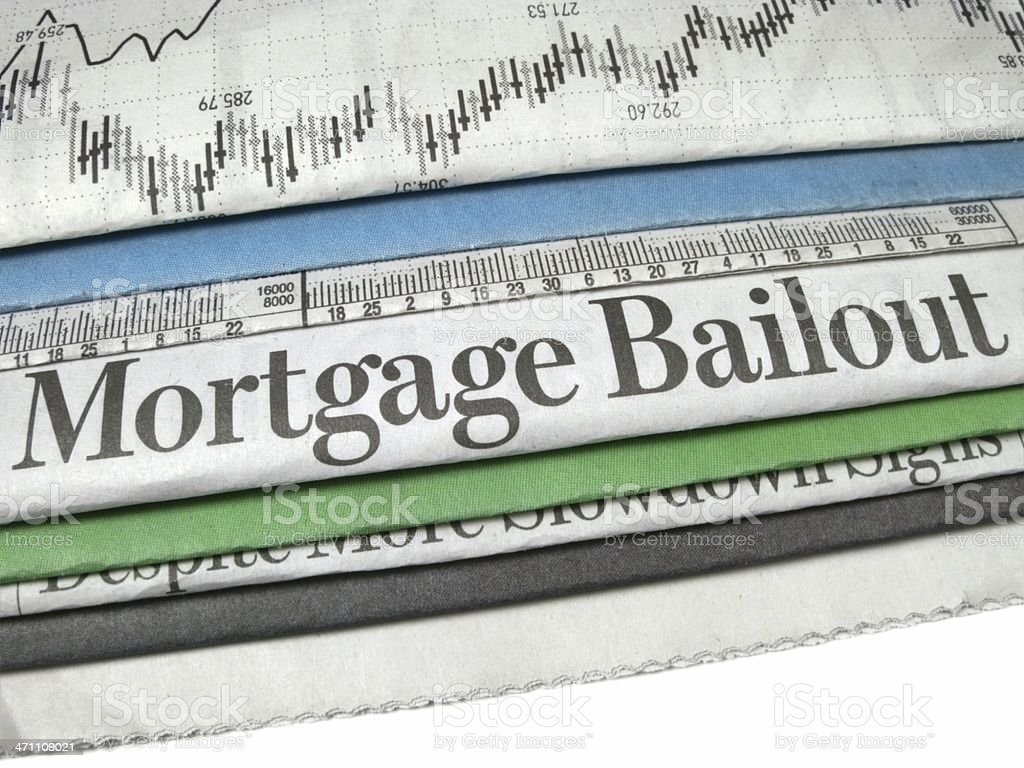 Mortgage Bailout royalty-free stock photo