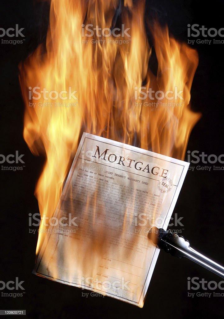 Mortgage burning royalty-free stock photo
