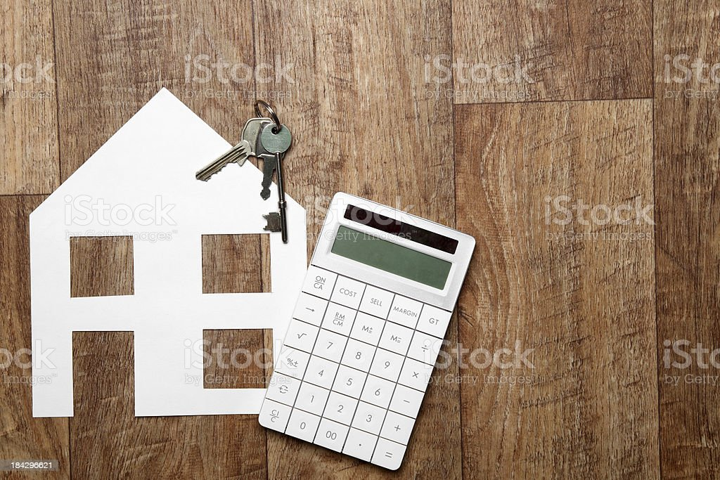 Mortgage calculations stock photo