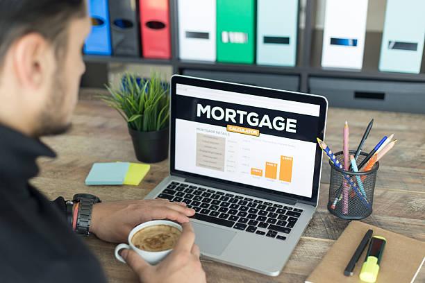 Mortgage Calculator Screen stock photo