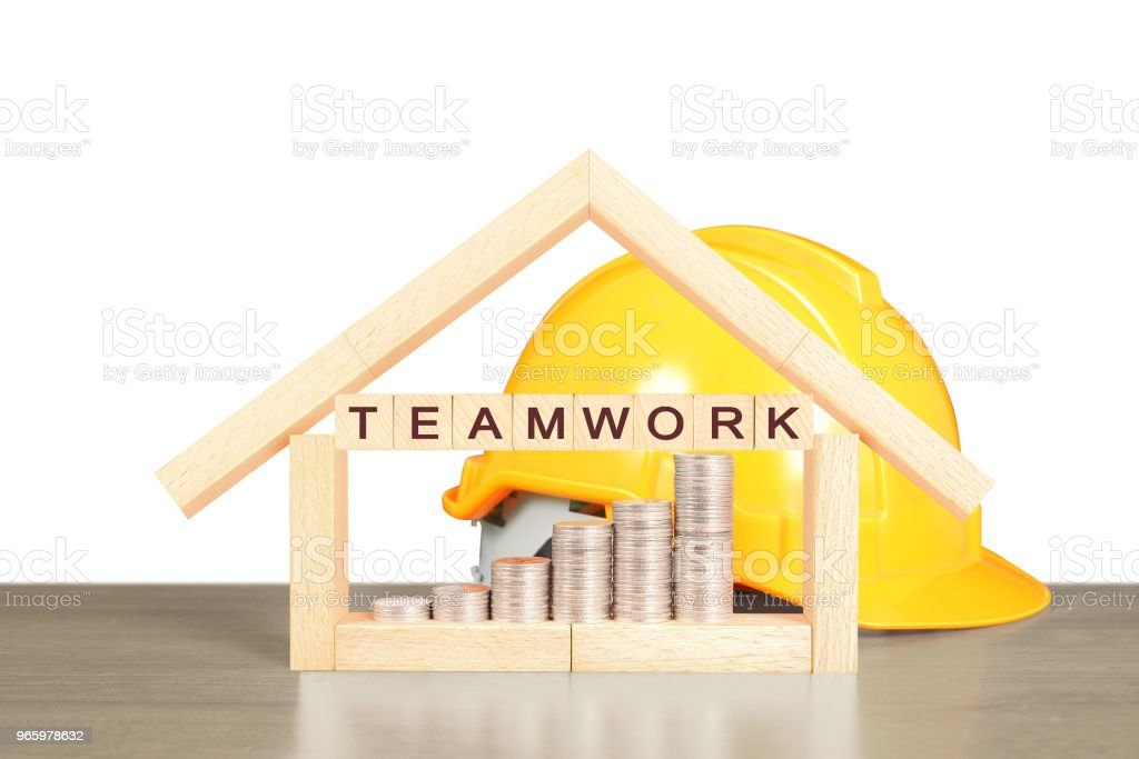 Mortgage concept by house from  hand - Royalty-free Architecture Stock Photo
