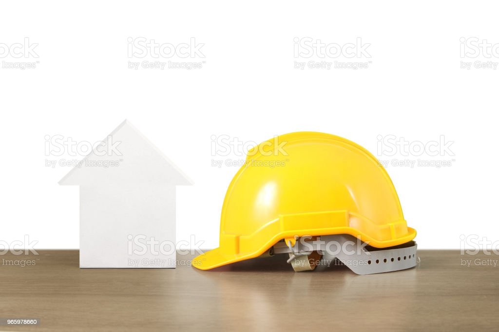 Hypotheek concept van huis uit hand - Royalty-free Architectuur Stockfoto