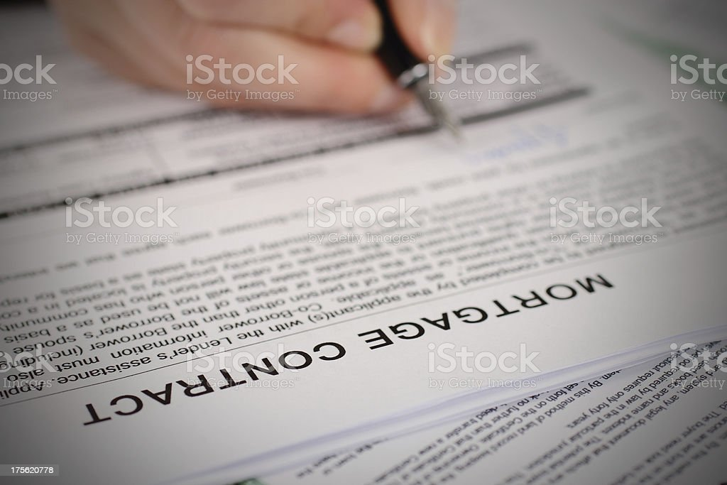 Mortgage Contract royalty-free stock photo