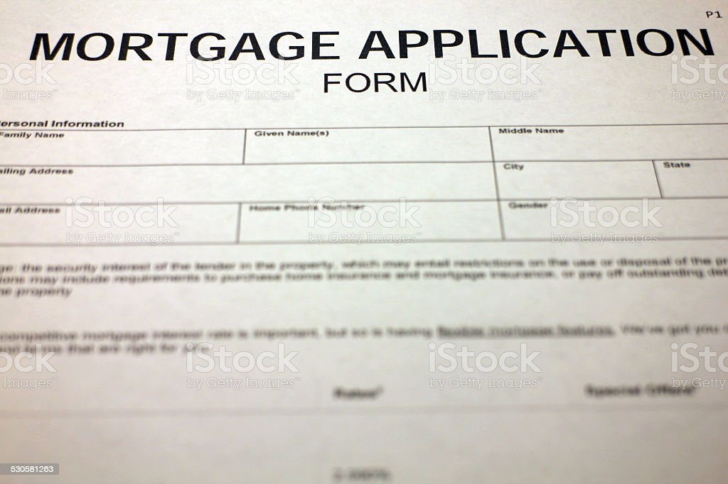 Mortgage Contract stock photo