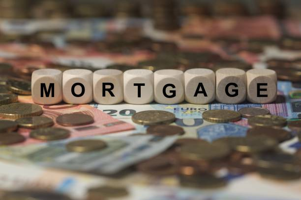 mortgage - cube with letters, money sector terms - sign with wooden cubes cubes with letters - sign with wooden cubes - money sector terms debenture stock pictures, royalty-free photos & images