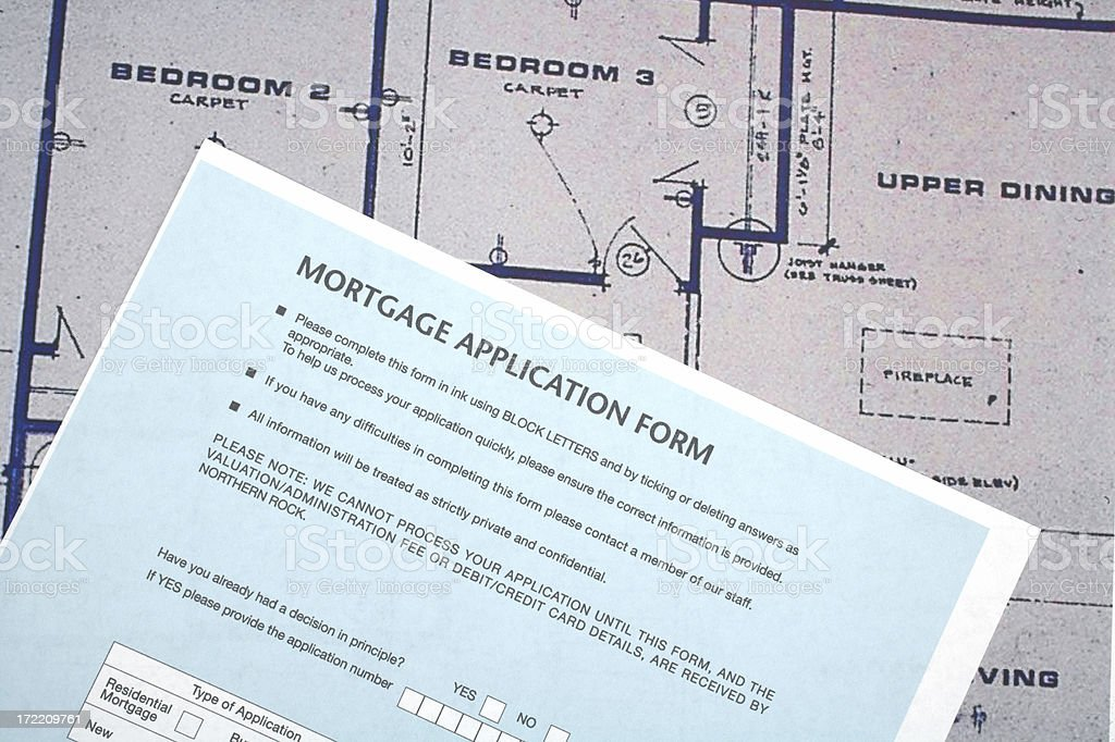 Mortgage form royalty-free stock photo