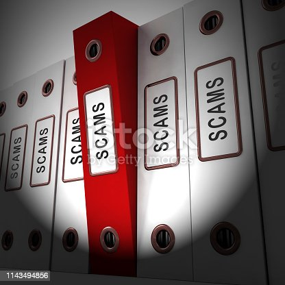 Mortgage Fraud Folder Represents Property Loan Scam Or Refinance Con. Fraudster Doing Hoax For Finance Or Equity Release - 3d Illustration