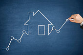 istock Mortgage Graph with Ascending Price Arrow 1239849888