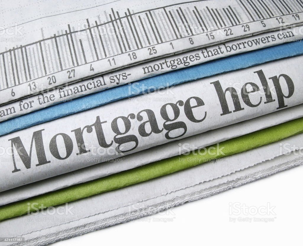 Mortgage Help royalty-free stock photo