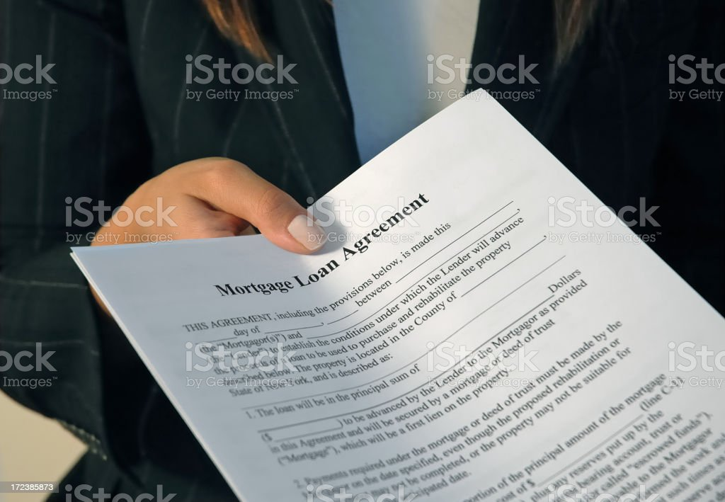 Mortgage Home Loan royalty-free stock photo