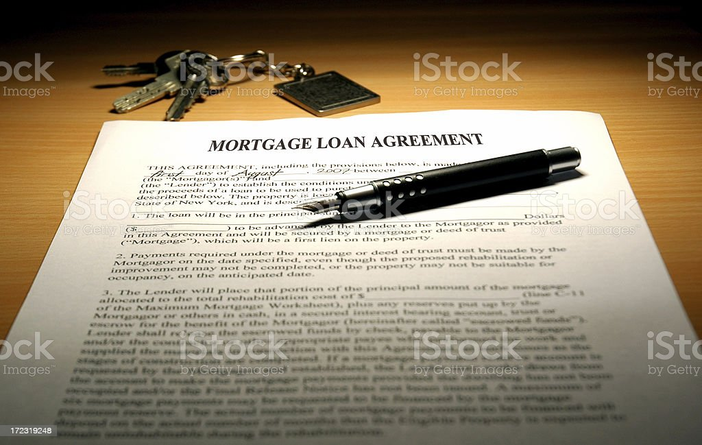 Mortgage Loan Agreement royalty-free stock photo
