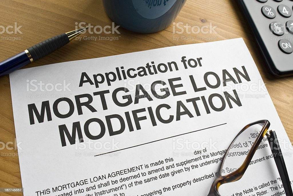 Mortgage Loan Modification royalty-free stock photo
