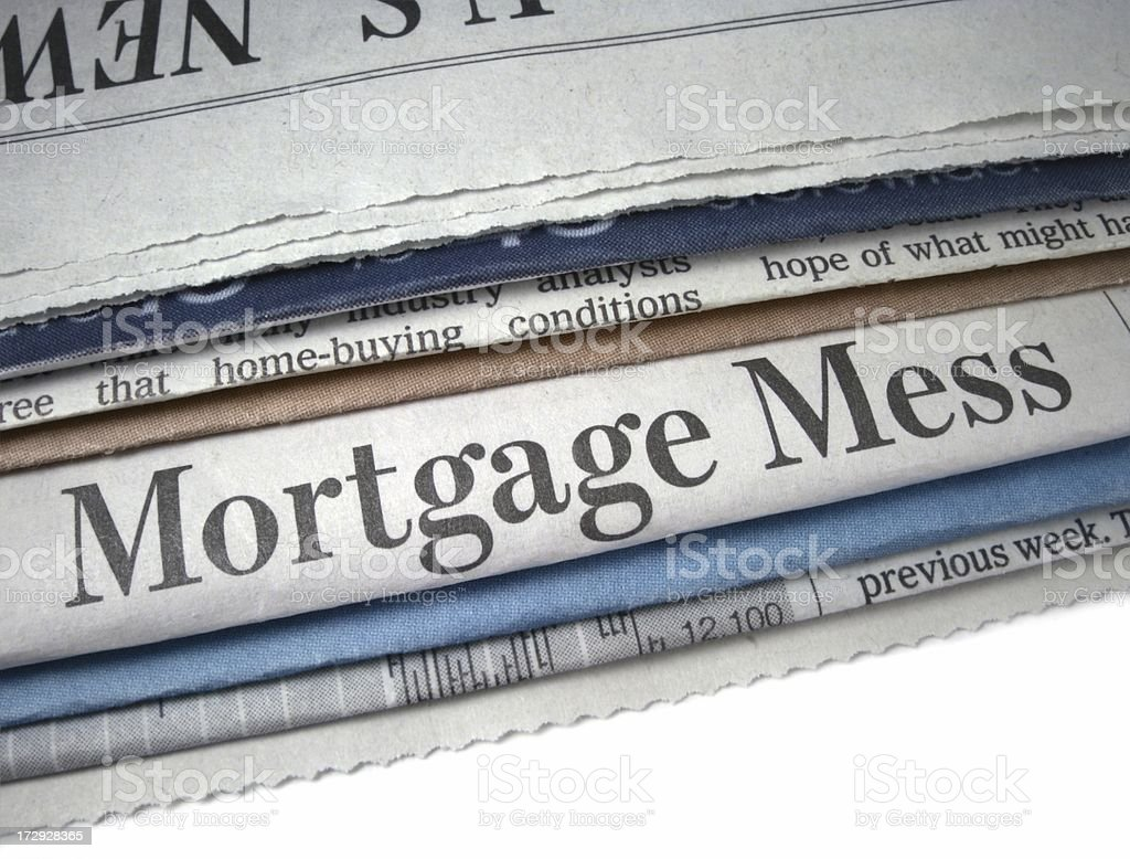 Mortgage Mess royalty-free stock photo