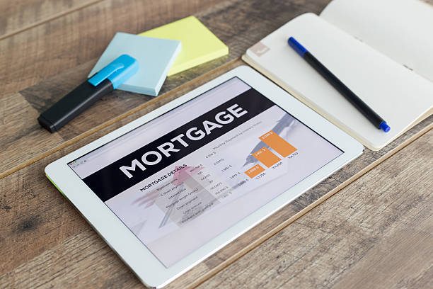 Mortgage Online stock photo