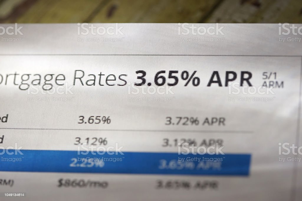 close up shot of mortgage rate