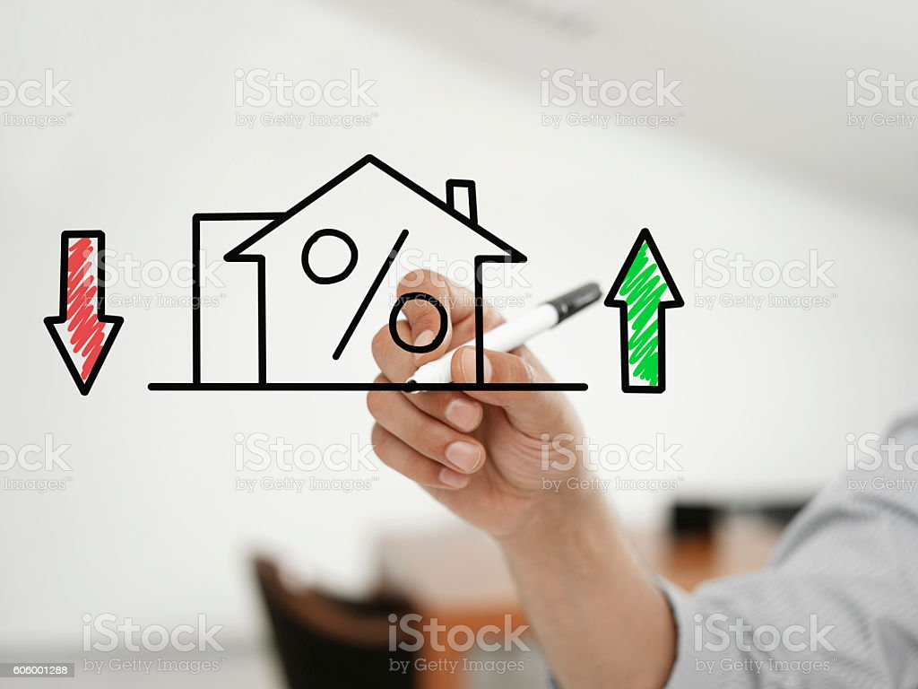Mortgage rates stock photo