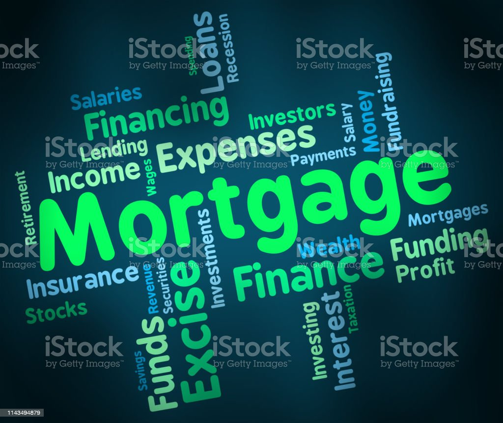 Mortgage Rates Wordcloud For Buy To Let Morgage Or Home Ownership...