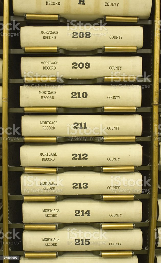 Mortgage Records stock photo