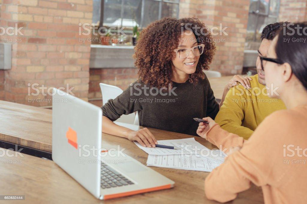 Mortgage renewal options stock photo