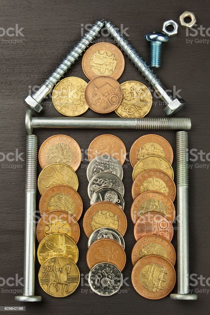 mortgage to build a house stock photo