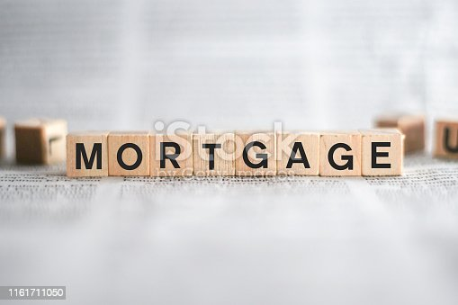 istock Mortgage Word Written In Wooden Cube 1161711050
