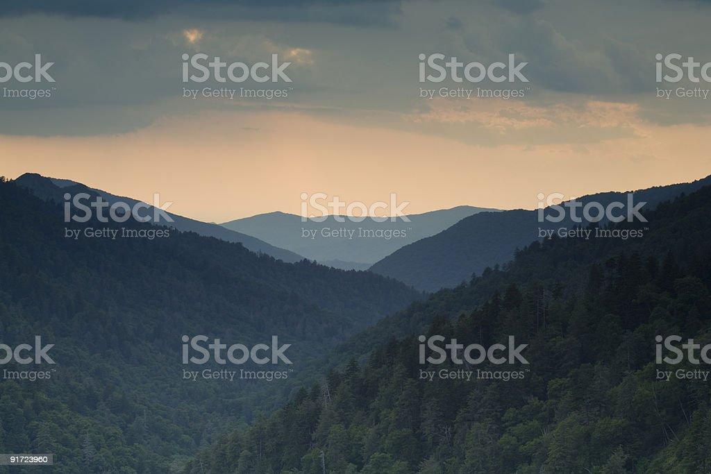 Morton Overlook, Great Smoky Mtns Nat. Park stock photo