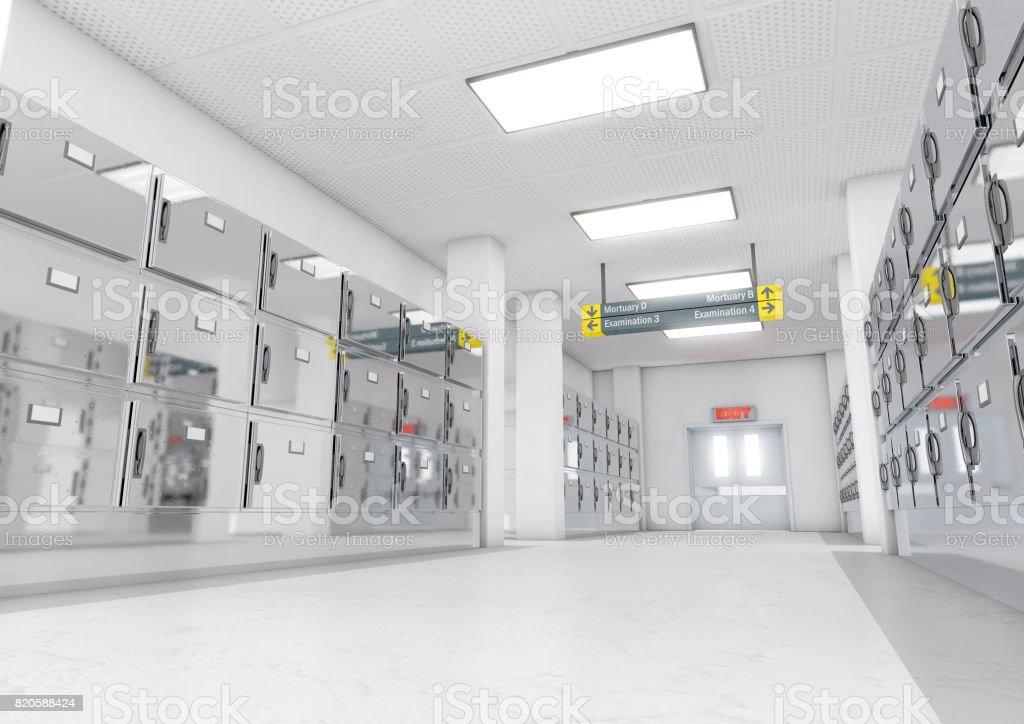 Mortuary light render 5 stock photo