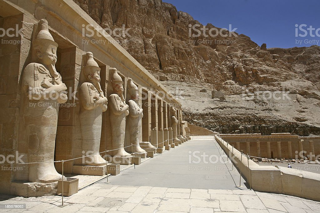 Mortuary Temple of Hatshepsut Egypt. Osiris royalty-free stock photo