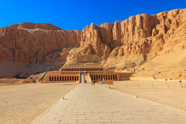 Mortuary Temple of Hatshepsut in Luxor, Egypt Mortuary Temple of Hatshepsut in Luxor, Egypt valley of the kings stock pictures, royalty-free photos & images