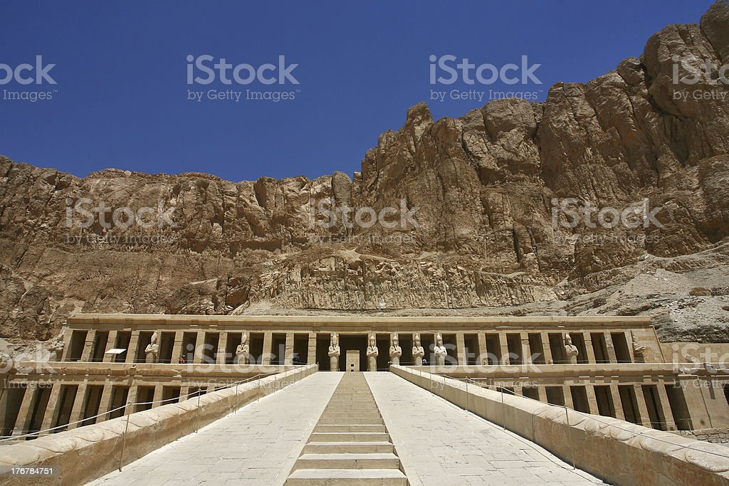Mortuary Temple of Hatshepsut royalty-free stock photo