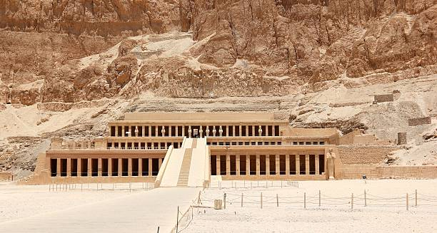 Mortuary Temple of Hatshepsut. stock photo