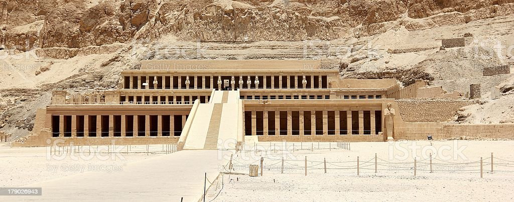 Mortuary Temple of Hatshepsut. royalty-free stock photo