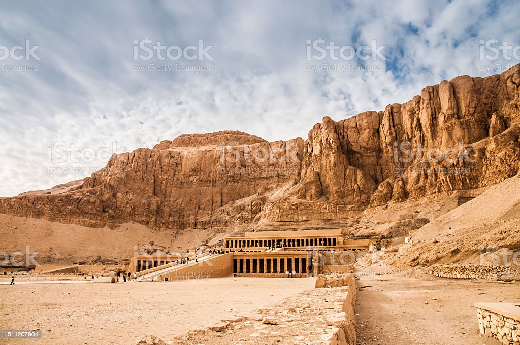Mortuary Temple Of Hatshepsut stock photo