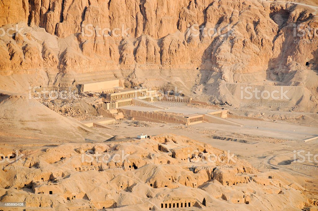 Mortuary Temple of Queen Hatshepsut stock photo