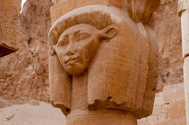 Mortuary Temple of Queen Hatshepsut stock photo