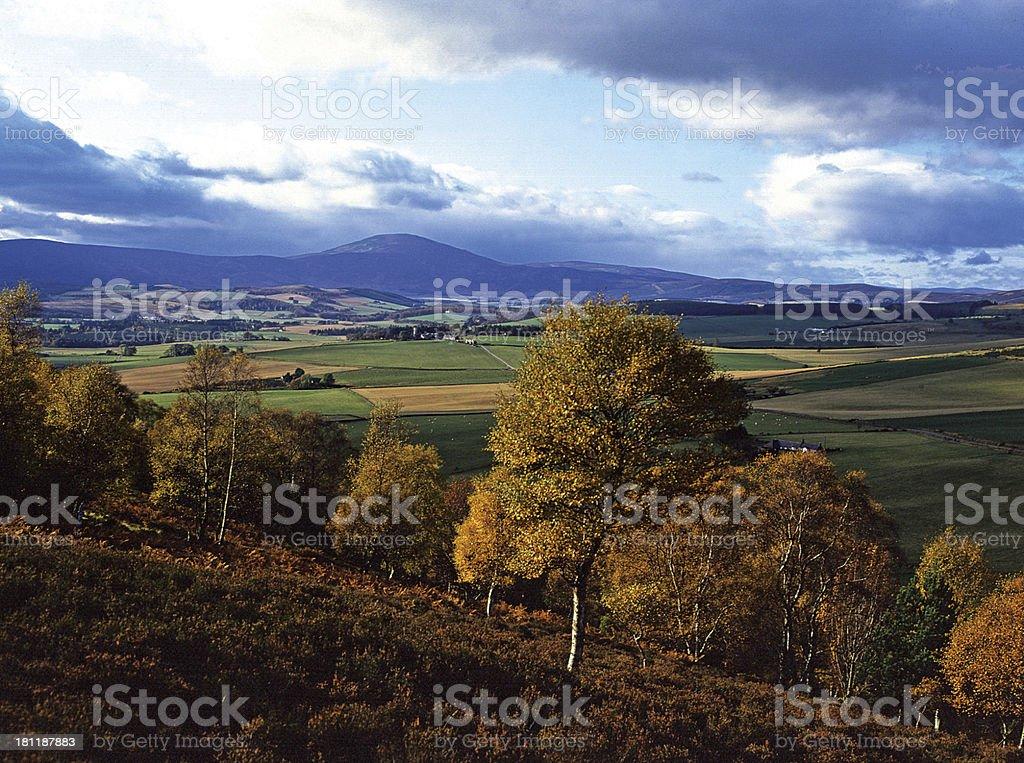 Morven from Craiglich Royal Deeside, Scotland stock photo