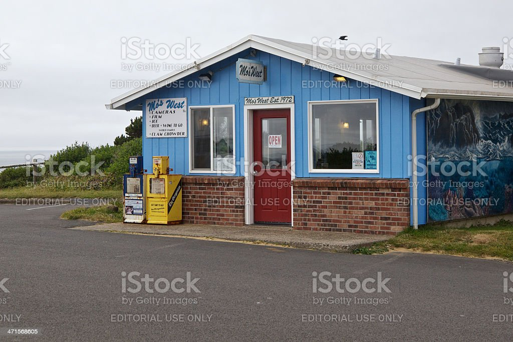 Mo's West Restaurant at Otter Rock Oregon Famous Clam Chowder royalty-free stock photo